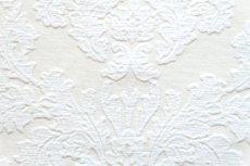 画像12: 「即納J」はぎれ70×50:ダマスク(シュニーユ、ジャカード、ホワイト)/105g (12)