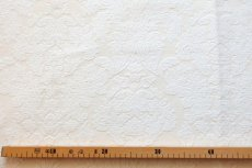 画像3: 「即納J」はぎれ70×50:ダマスク(シュニーユ、ジャカード、ホワイト)/105g (3)