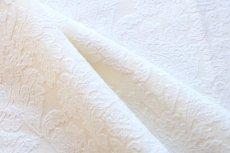 画像9: 「即納J」はぎれ70×50:ダマスク(シュニーユ、ジャカード、ホワイト)/105g (9)