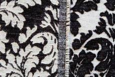 画像8: 「J即納」はぎれ70×50:ダマスク(シュニーユ、ジャカード、白ベース黒)/105g (8)