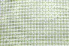 画像11: 「即納J」はぎれ70×50:ヴィシーチェック・ハート(アニスグリーン)/105g (11)