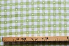 画像3: 「即納J」はぎれ70×50:ヴィシーチェック・ハート(アニスグリーン)/105g (3)