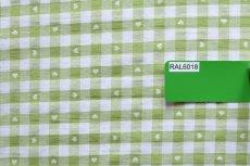 画像7: 「即納J」はぎれ70×50:ヴィシーチェック・ハート(アニスグリーン)/105g (7)