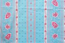画像1: 「J即納」はぎれ80×50:アヴィニヨンII(プロヴァンス風、ストライプ、水色ベース・ピンク) (1)