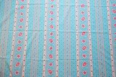 画像8: 「J即納」はぎれ80×50:アヴィニヨンII(プロヴァンス風、ストライプ、水色ベース・ピンク) (8)