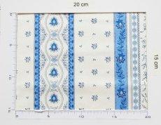 画像3: 「移動中」はぎれ80x50:アヴィニヨンII(プロヴァンス風、ブルー・ホワイト)/80g (3)