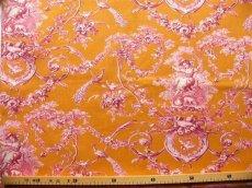 画像4: 「即納J」はぎれ70×50:ブランコに乗った少女(オレンジベースピンク)/ 95g (4)