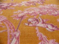 画像5: 「即納J」はぎれ70×50:ブランコに乗った少女(オレンジベースピンク)/ 95g (5)