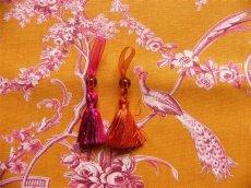 画像8: 「即納J」はぎれ70×50:ブランコに乗った少女(オレンジベースピンク)/ 95g (8)