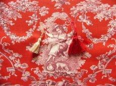 画像7: 「即納F」はぎれ70×50:ブランコに乗った少女(赤ベースボルドー)/ 95g (7)