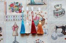 画像12: 「F在庫」はぎれ70×50:ゴブラン織り パッチワーク・クチュール(ベージュベース) (12)