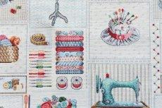 画像8: 「F在庫」はぎれ70×50:ゴブラン織り パッチワーク・クチュール(ベージュベース) (8)