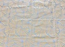 画像1: 「取寄せ」布:睡蓮(麻色ベースブルー) / 475g (1)