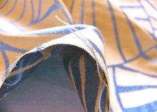 画像6: 「取寄せ」布:睡蓮(麻色ベースブルー) / 475g (6)