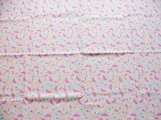 画像8: 「即納F」廃盤はぎれ70×50:ファンタズマティック(麻色ベース、フーシャピンク) / 70g (8)