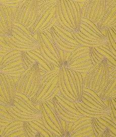 画像1: 「即納F」はぎれ70×50:カカオ(ジャカード、イエローベース麻色) / 115g (1)