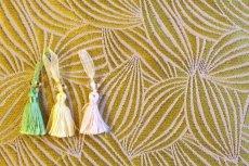 画像9: 「即納F」はぎれ70×50:カカオ(ジャカード、イエローベース麻色) / 115g (9)