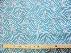 画像3: 「即納J」はぎれ70×50:カカオ(ジャカード、ブルーグリーンベース生成り) / 115g (3)