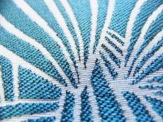画像4: 「即納J」はぎれ70×50:カカオ(ジャカード、ブルーグリーンベース生成り) / 115g (4)