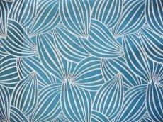 画像8: 「即納J」はぎれ70×50:カカオ(ジャカード、ブルーグリーンベース生成り) / 115g (8)