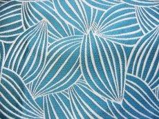 画像10: 「即納J」はぎれ70×50:カカオ(ジャカード、ブルーグリーンベース生成り) / 115g (10)