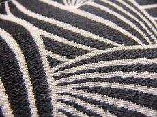 画像4: 「即納J」はぎれ70×50:カカオ(ジャカード、黒ベース麻色) / 115g (4)