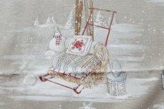 画像12: 「即納F」はぎれ70×50:雪のレンヌ(コットン地、麻色)/90g (12)