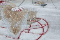 画像13: 「即納F」はぎれ70×50:雪のレンヌ(コットン地、麻色)/90g (13)