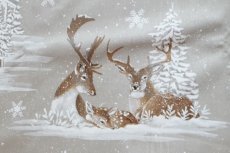 画像6: 「即納F」はぎれ70×50:雪のレンヌ(コットン地、麻色)/90g (6)