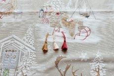 画像14: 「即納F」はぎれ70×50:雪のレンヌ(コットン地、麻色)/90g (14)