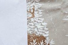 画像15: 「即納F」はぎれ70×50:雪のレンヌ(コットン地、麻色)/90g (15)