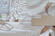 画像16: 「即納F」はぎれ70×50:雪のレンヌ(コットン地、麻色)/90g (16)