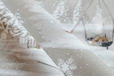 画像8: 「即納J」はぎれ70×50:雪のレンヌ(コットン地、麻色)/90g (8)