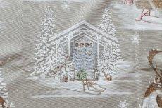 画像10: 「即納J」はぎれ70×50:雪のレンヌ(コットン地、麻色)/90g (10)