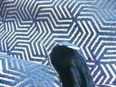 画像6: 「即納F」はぎれ69×50:ヴェルティゴ(ジャカード、マリンブルー)/155g (6)