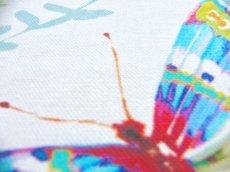 画像3: 「移動中」はぎれ68x50:アドミラル(オレンジ・水色、スプリング)/100g (3)