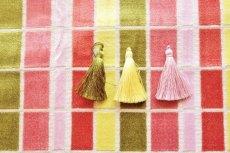 画像6: 「即納F」はぎれ68×50:ユージーン(ジャカード、チェック、ピンク・オリーブ)/220g (6)