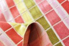 画像5: 「即納F」はぎれ68×50:ユージーン(ジャカード、チェック、ピンク・オリーブ)/220g (5)