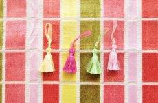 画像7: 「即納F」はぎれ68×50:ユージーン(ジャカード、チェック、ピンク・オリーブ)/220g (7)