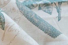 画像5: 「F在庫」はぎれ75×50:クラリッサ(麻地、ブルー、ホワイトベース) (5)
