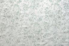 画像10: 「即納J」はぎれ70x50:ビバリー・ロイラ(グリーン、ジャカード、花・鳥かご) /135g (10)