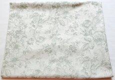 画像2: 「即納J」はぎれ70x50:ビバリー・ロイラ(グリーン、ジャカード、花・鳥かご) /135g (2)