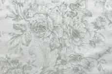 画像13: 「即納J」はぎれ70x50:ビバリー・ロイラ(グリーン、ジャカード、花・鳥かご) /135g (13)