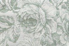 画像14: 「即納J」はぎれ70x50:ビバリー・ロイラ(グリーン、ジャカード、花・鳥かご) /135g (14)
