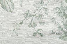 画像15: 「即納J」はぎれ70x50:ビバリー・ロイラ(グリーン、ジャカード、花・鳥かご) /135g (15)