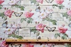 画像3: 「即納J」はぎれ70x50:オー・ド・コロン(ホワイトベース、蝶、花) /90g (3)
