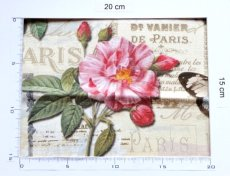 画像4: 「即納J」はぎれ70x50:オー・ド・コロン(ホワイトベース、蝶、花) /90g (4)