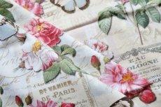 画像5: 「即納J」はぎれ70x50:オー・ド・コロン(ホワイトベース、蝶、花) /90g (5)