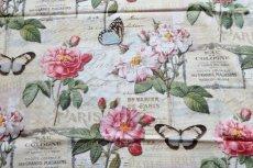 画像8: 「即納J」はぎれ70x50:オー・ド・コロン(ホワイトベース、蝶、花) /90g (8)