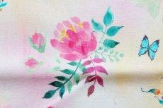 画像11: 「移動中」はぎれ70x50:クール・ド・プランタン(ホワイトベースピンク・ブルー) /90g (11)